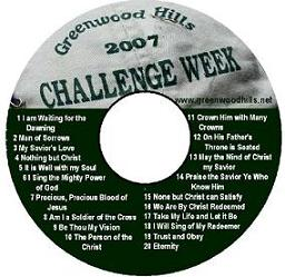 Songs from Challenge Week
